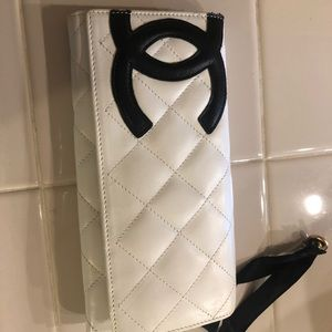 Chanel Wallet (Ivory/White, with Black logo)